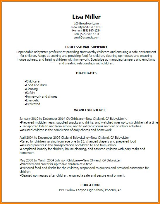 unforgettable babysitter resume examples to stand out babysitting resume