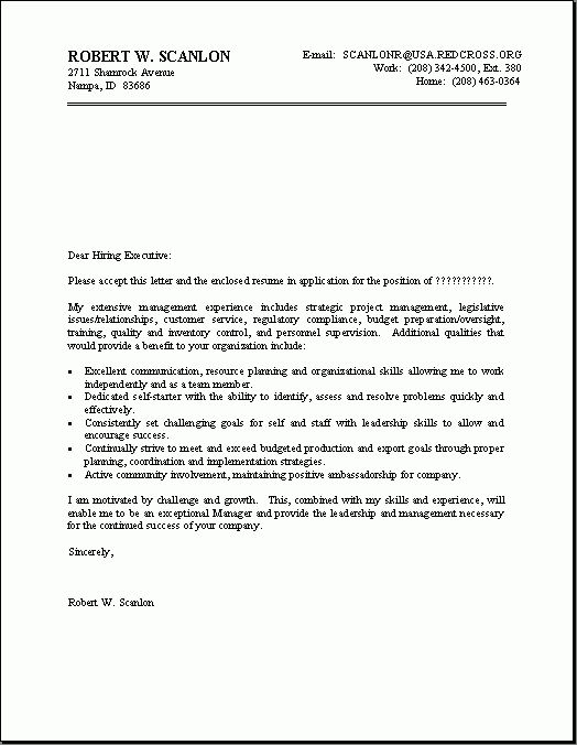 employment covering letter samples