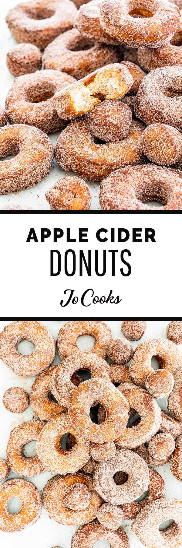Perfectly spiced and beautifully tender, these Apple Cider Donuts are about to be your latest and greatest fall snack, and yes I know the competition is stacked. Full of warm cinnamon, freshly ground nutmeg, tangy apple cider, and with a heavenly chew, these donuts are buzz worthy. #applecider #donuts
