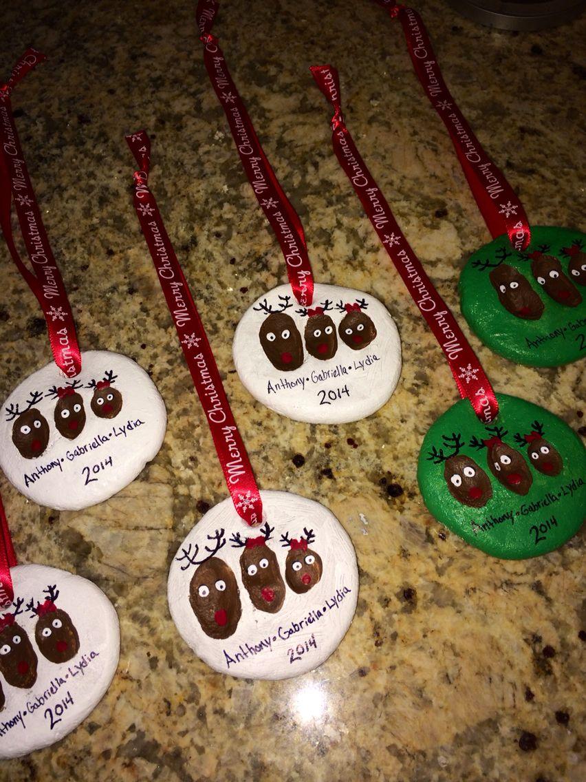 Salt dough ornaments, Dough ornaments and Salt dough on ...  Reindeer Handprint Ornament