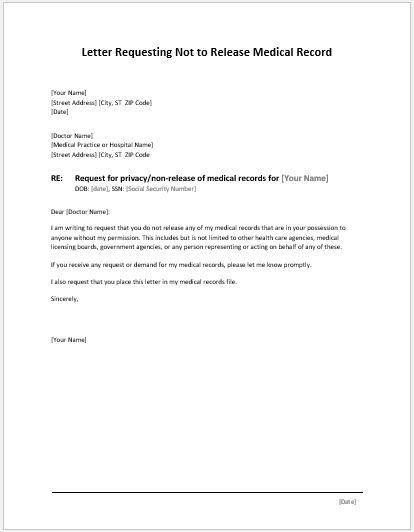 Medical Permission Letter Medical Permission Letter - permission letter