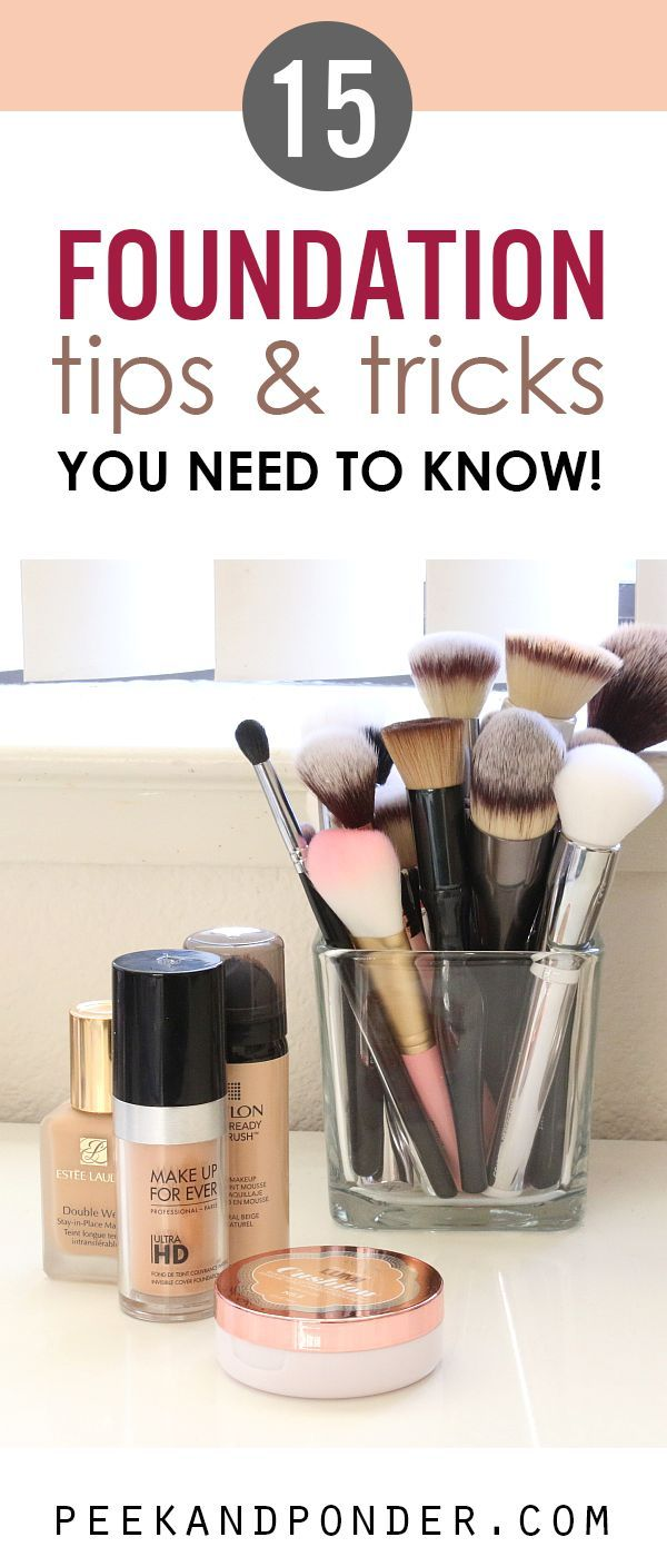 Super helpful list of foundation tips. I had no idea about some of these things!!
