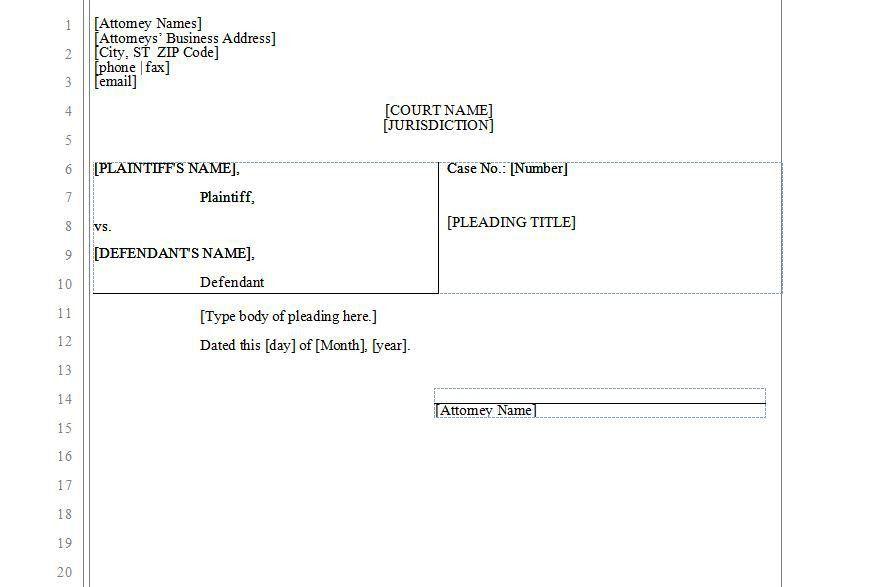 Legal Template Word Legal Memo Template 10 Free Word Excelpdf - microsoft word legal template