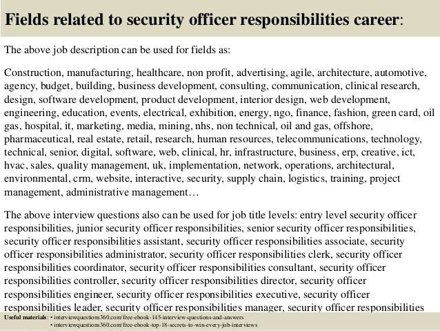subway job description resume commissioned security officer jobs