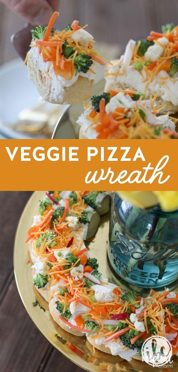 Veggie Pizza Wreath