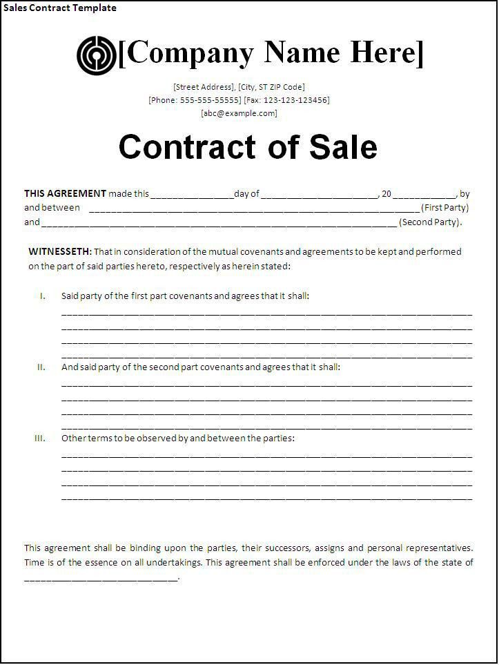Simple Sales Contract Form 4 Simple Purchase Agreement - sales contract
