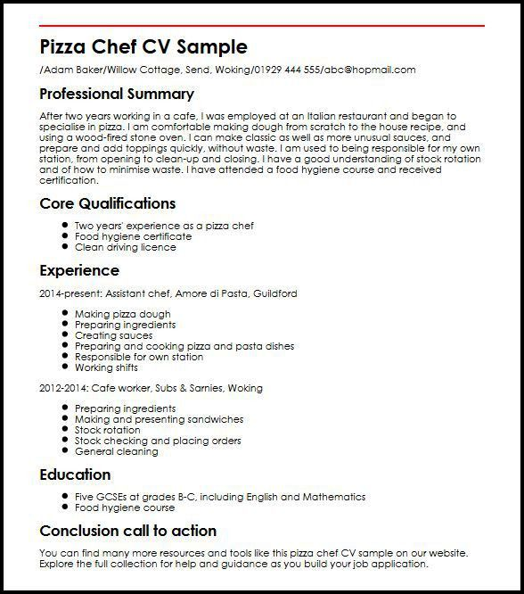 Resume for a chef pastry template lsg sky sample chefs assistant
