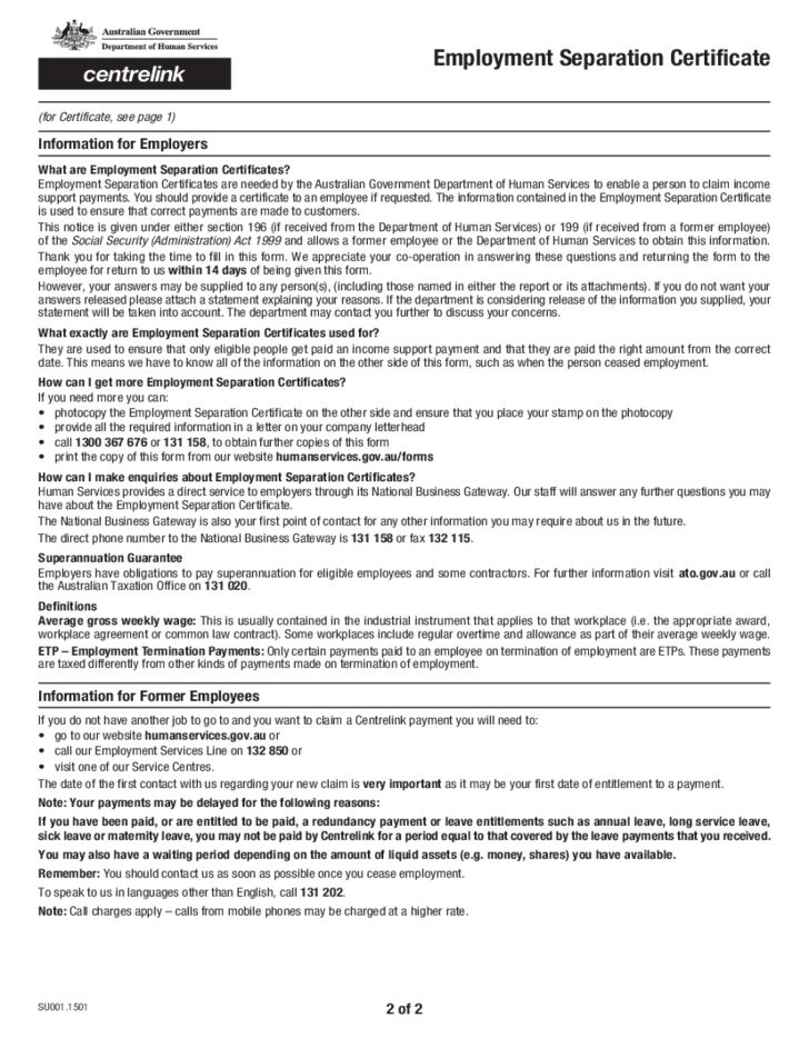 employment separation certificate form node2004-resume-template