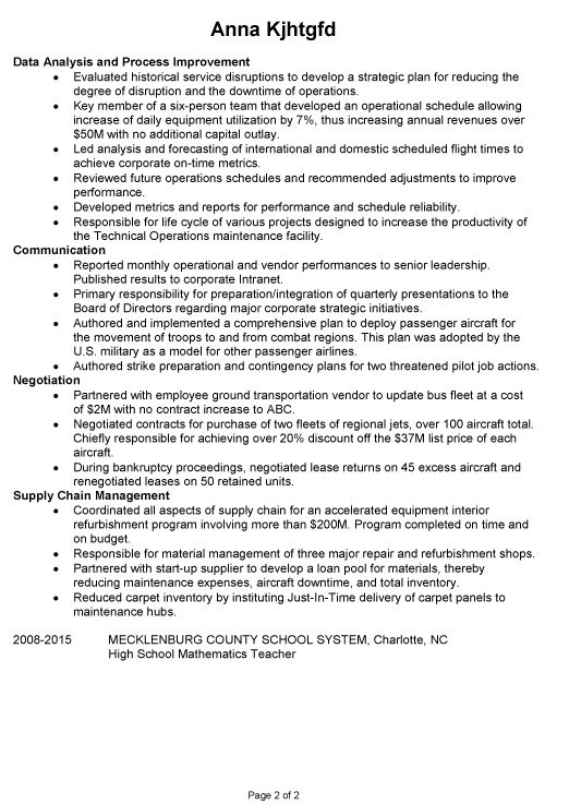 entry level flight attendant resume