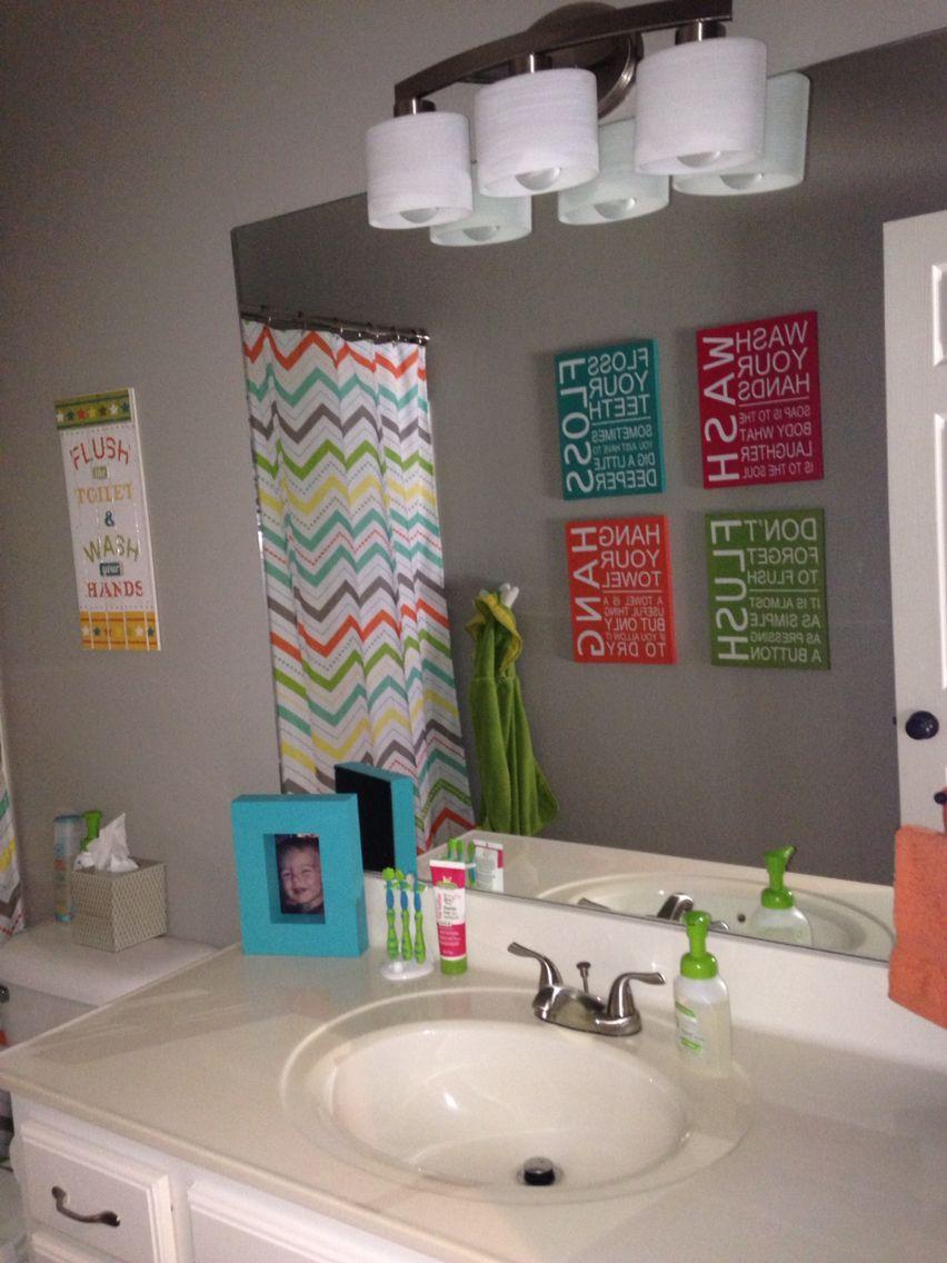 Gender Neutral Kids Bathroom Print Set Brush Wash Flush Three Digital Keiki Pinterest Prints Kid Bathrooms And