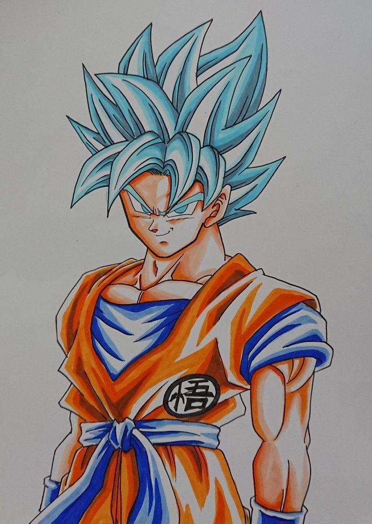 Dessin Son Goku Super Saiyajin Blue Couleur うし Akabec0