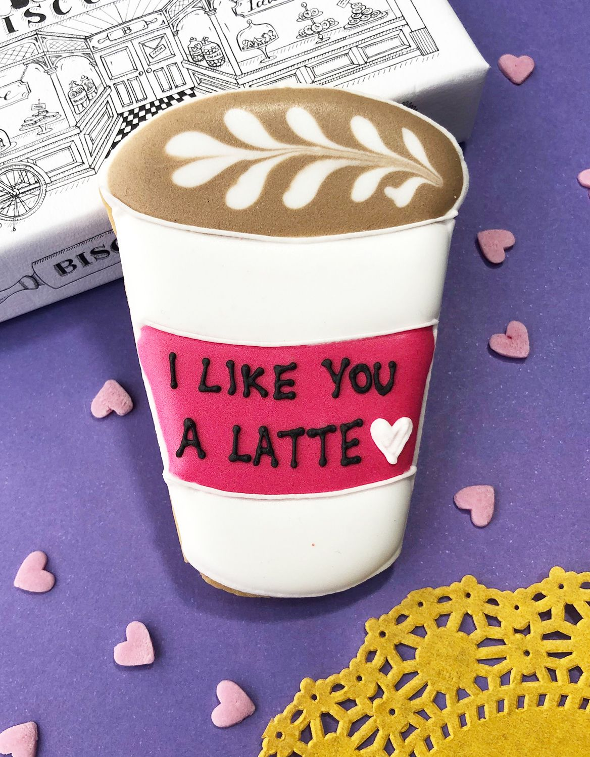 Biscuits for Business: I like you a latte Selfridges letterbox biscuit