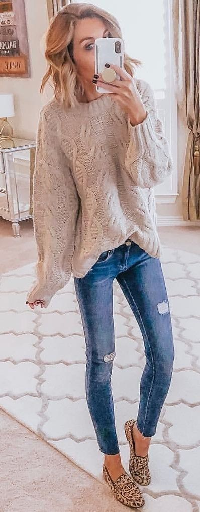 gray bibbed sweater