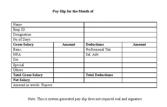 Free Salary Slip Format In Word, PDF U0026 Excel Templates | Daily Roabox  Payment Slip Format Free Download