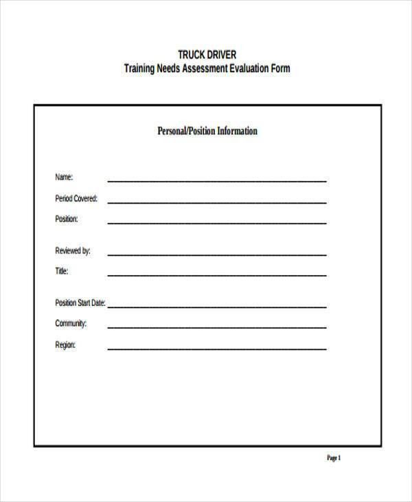 100 training assessment form training assessment form u2013 community needs assessment template training evaluation form 15 pronofoot35fo Images
