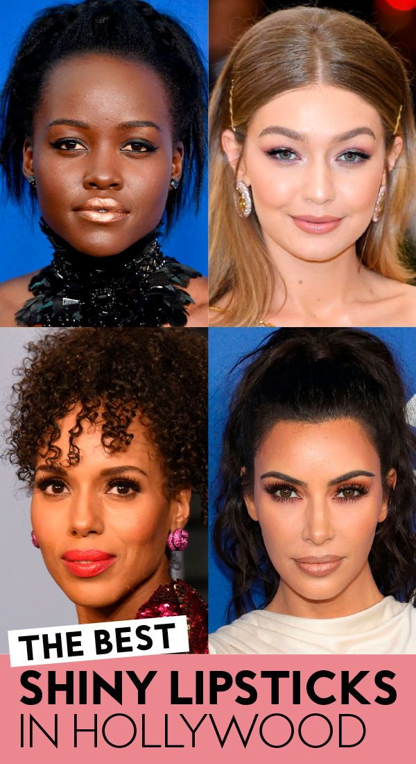 The best #shiny #lipsticks in Hollywood. #lipgloss #lipcolors #bestlipsticks #lipshades #kimkardashian #kerrywashington #gigihadid #lupitanyongo #lipstickcolors #makeup