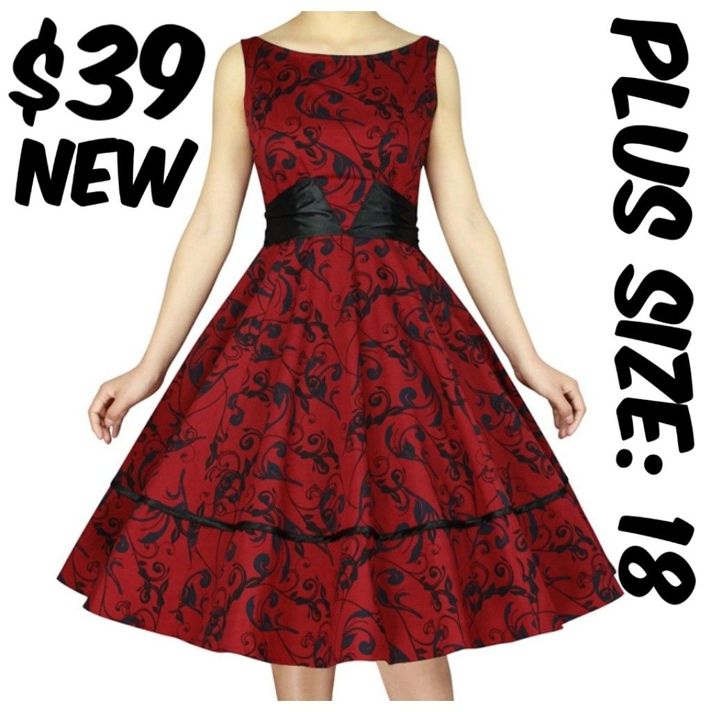 8c42553b923c Size 5X Plus Size Pin Up Dapper Girl Dress Floral 1950s   pin-up-dresses    Dresses, Pin up dresses, Casual dresses