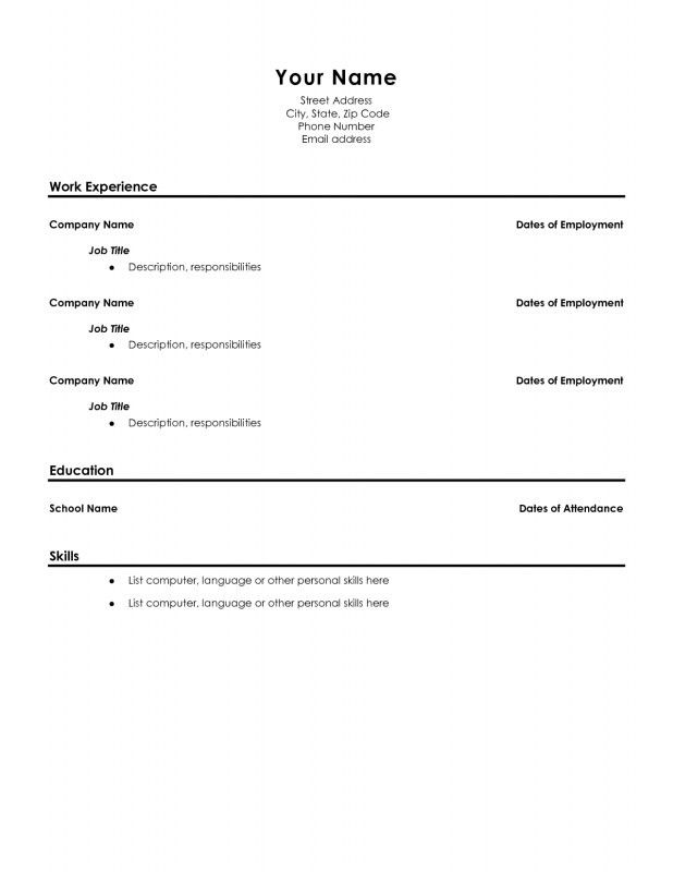 High School Graduate Resume Examples - Examples of Resumes