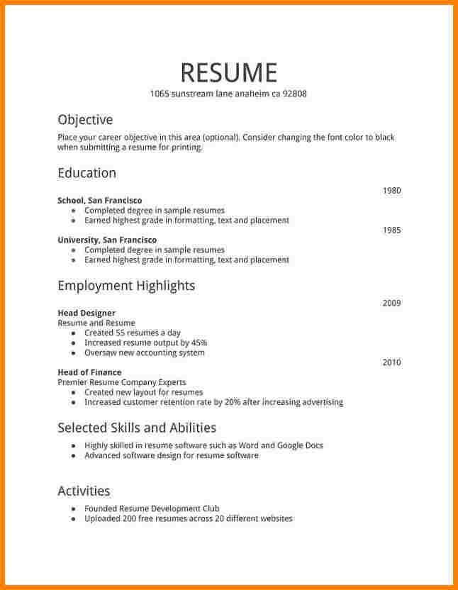 1st Job Resumes Aerc Co