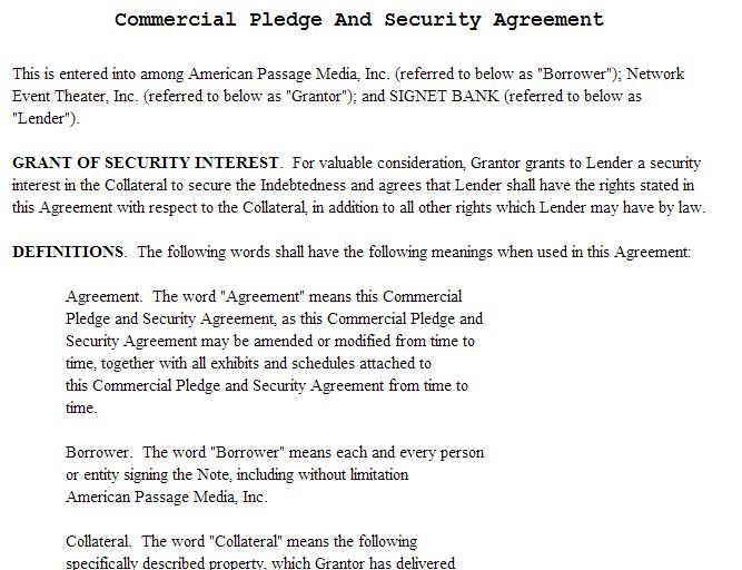 Sample Of Borrowing Money Agreement 5 Loan Agreement Templates To - sample security agreement
