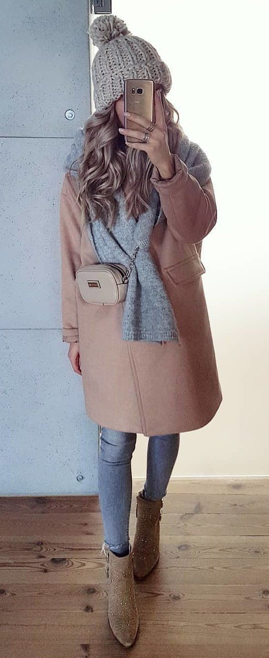 brown coat #spring #outfits