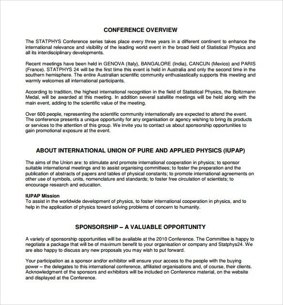 How To Write A Sponsorship Proposal Sample Sponsorship Proposal - non profit proposal template