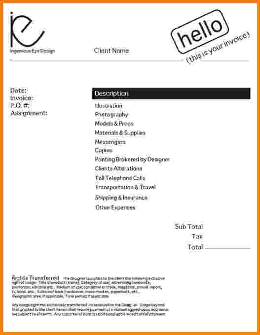 Invoice For Freelance Work 10 Free Freelance Invoice Templates - sample freelance invoice