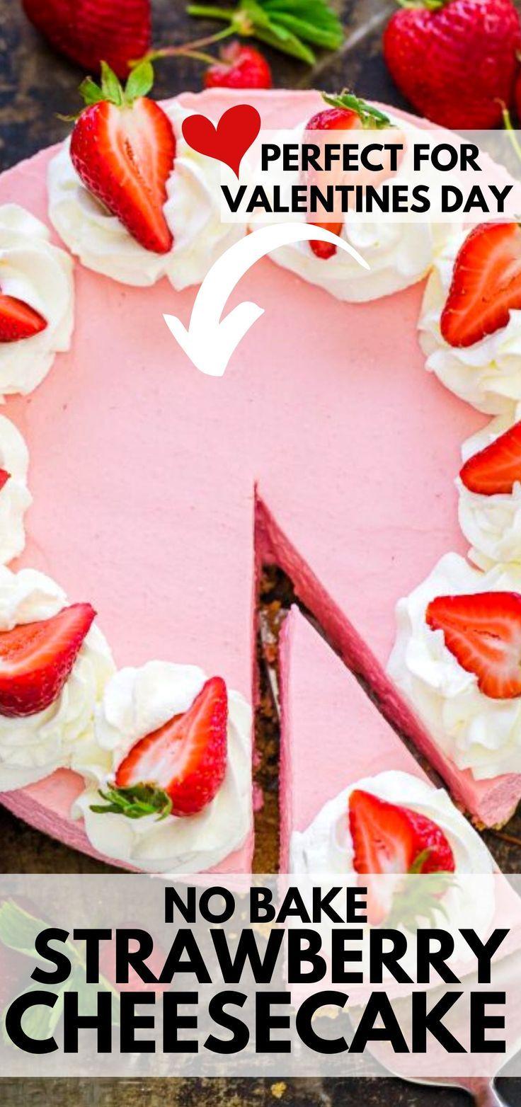 No Bake Strawberry Cheesecake (VIDEO) - NatashasKitchen.com