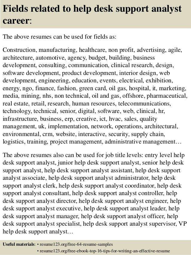 it help desk resumes