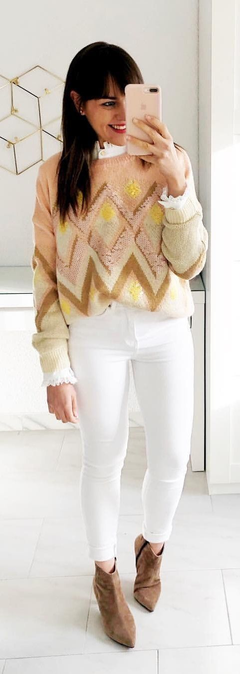 beige and gold sweatshirt