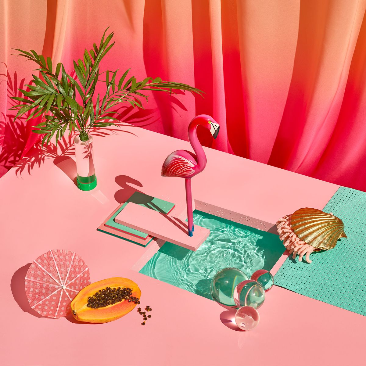 Tropical fruits, marine life, and sunshine – still life photographs inspired by the sunny coasts of Mexico by Paloma Rincon.