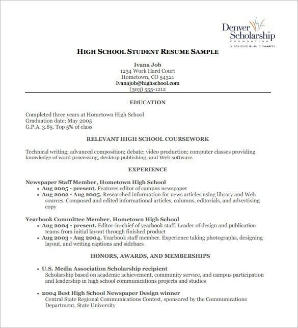 scholarship resume templates click here to download this after
