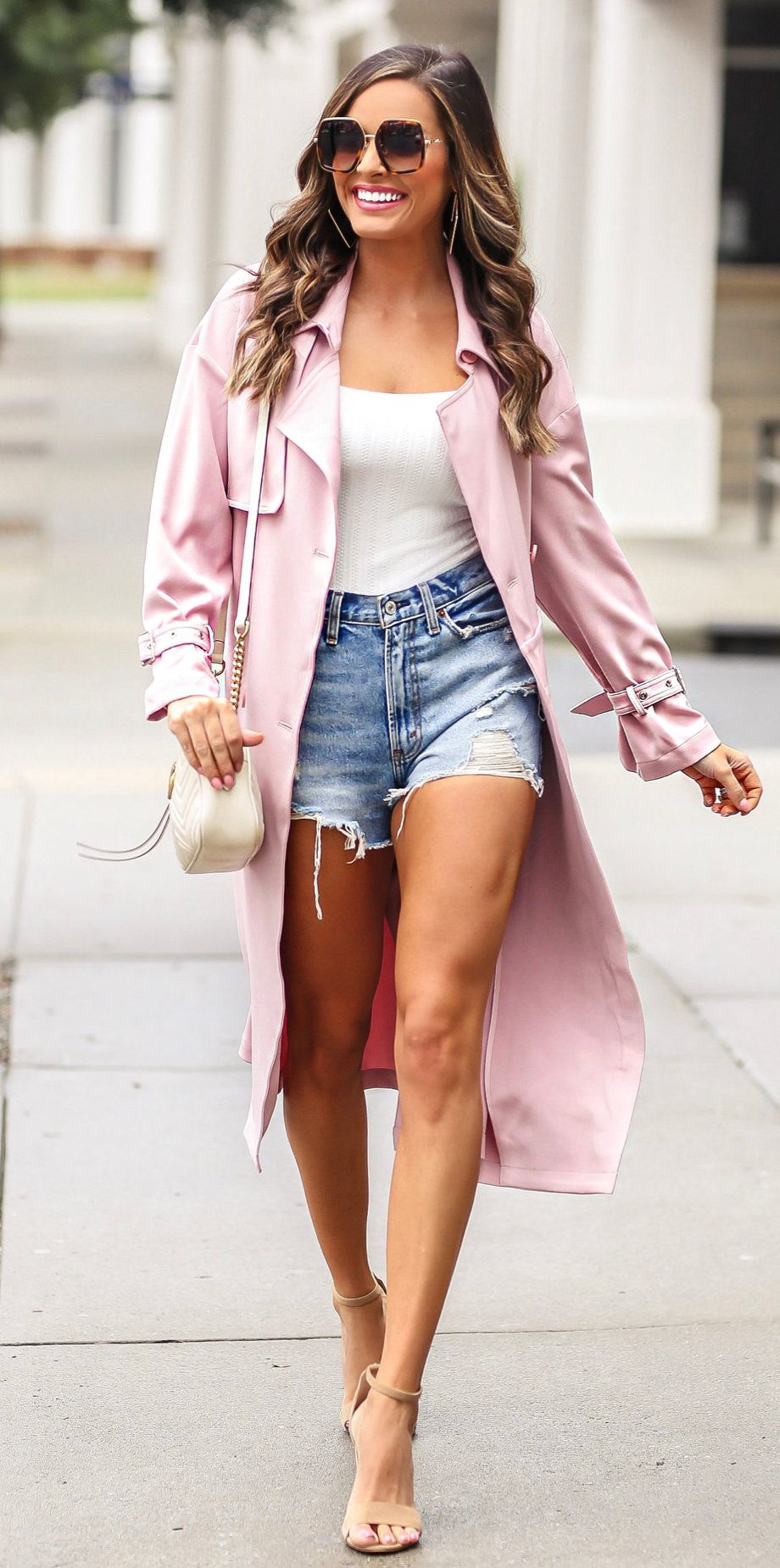 pink coat #spring #outfits