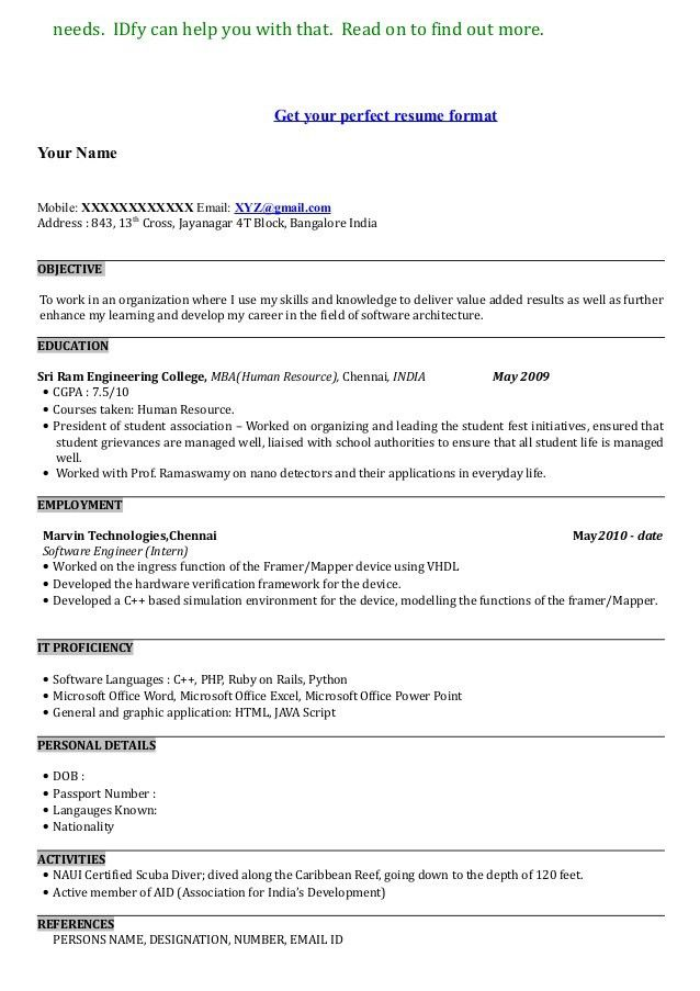 Resume For Mba Application Mba Admission Resume Sample Richardson - mba application resume format