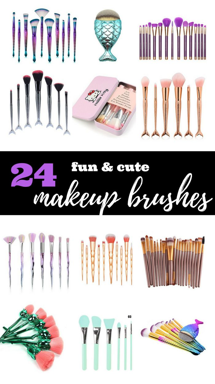 Cute and fun make up brushes from Amazon. These makeup brush collection are so cute! If you need a makeup brushes guide, check this out. Brush makeup. Makeup brush collection #makeup #brush #makeupbrush #cute