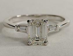 49 Trendy Vintage Wedding Rings Emerald Cut Stones