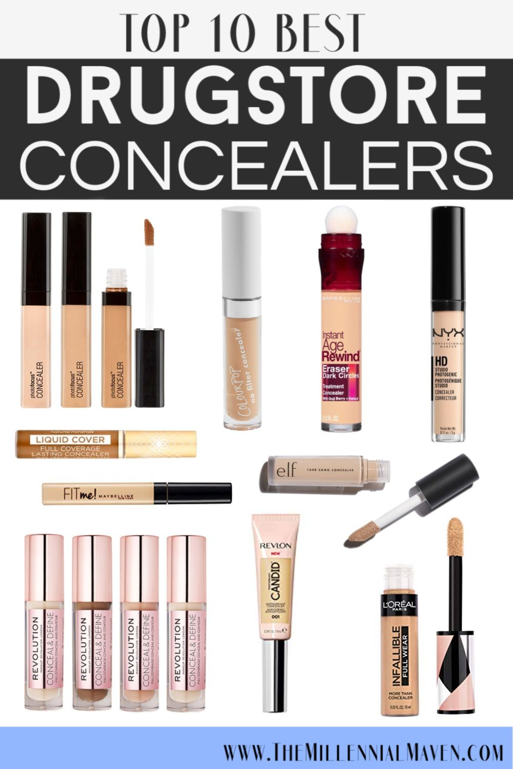 *UPDATED 2019* Top 10 BEST Concealers At The Drugstore! (Best Drugstore Concealer)   The Millennial Maven