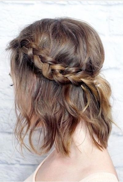 "Half up messy french braid for short hair <a class=""pintag"" href=""/explore/Braidedhairstyles/"" title=""#Braidedhairstyles explore Pinterest"">#Braidedhairstyles</a><p><a href=""http://www.homeinteriordesign.org/2018/02/short-guide-to-interior-decoration.html"">Short guide to interior decoration</a></p>"