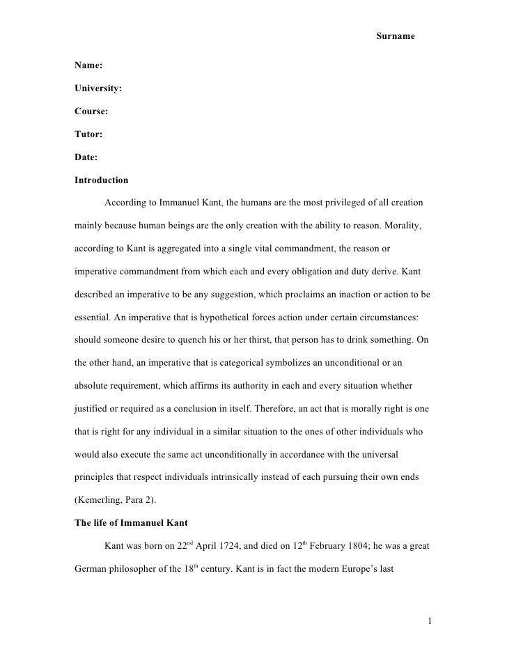 Mla Sample Essay Mla Essay Example Purdue Owl Mla Formatting And