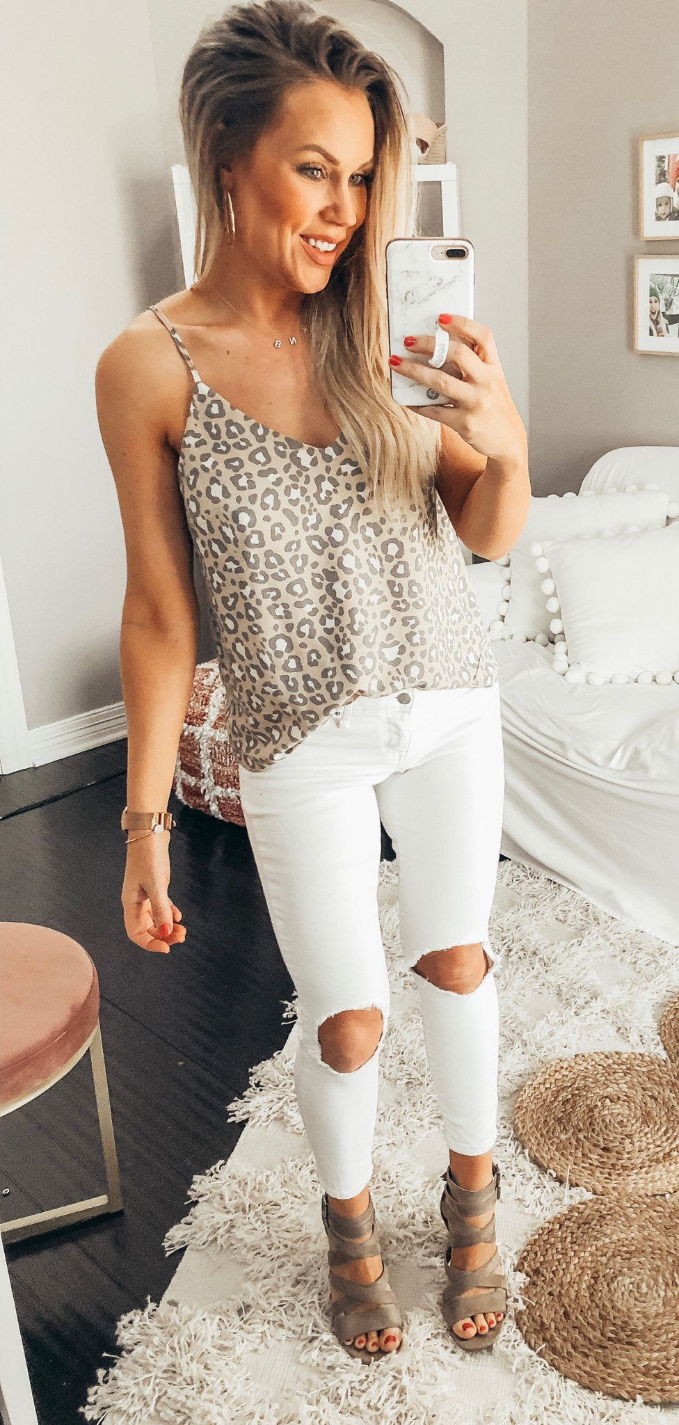 Leopard All Day, Every Day. Linking Similar Jeans. #spring #outfits