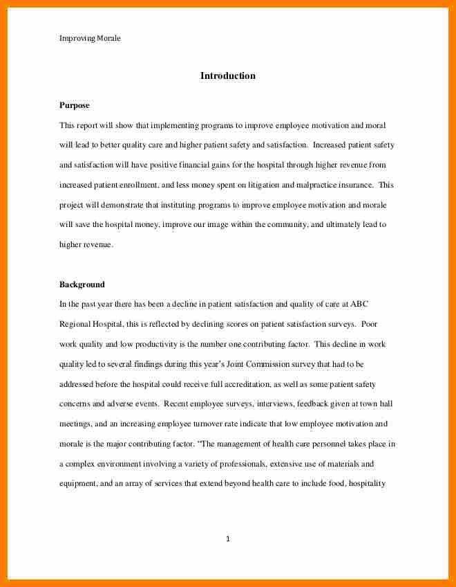 short report format template