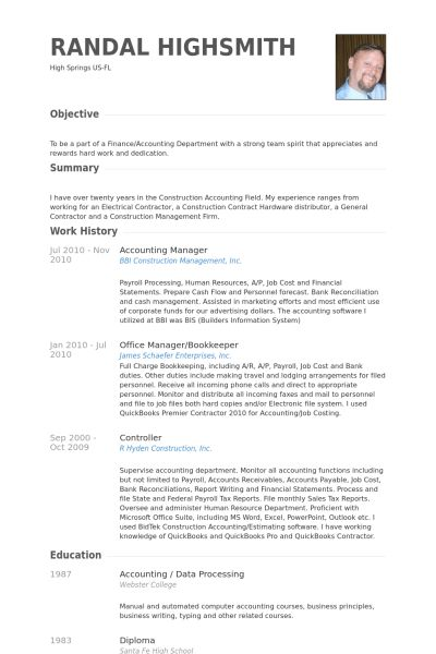 data processing manager sample resume