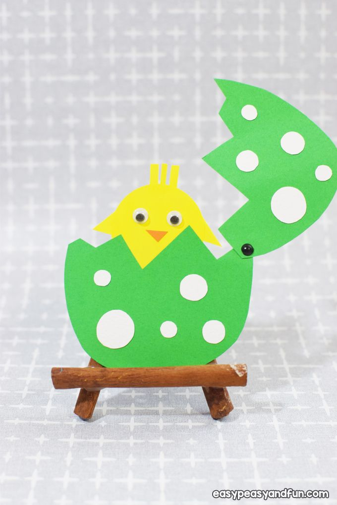 Easter Hatching Chick Paper Craft - Easy Peasy and Fun