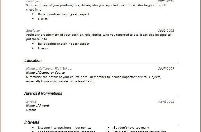 Very Good Resume Examples Best 20 Good Resume Examples Ideas On - short resume examples