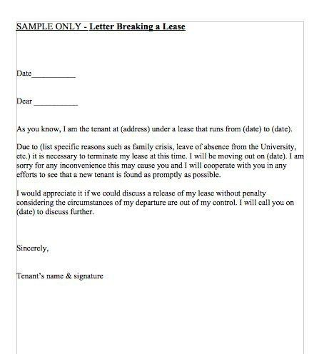 Lease Template Lease Termination Letter Templates 18 Free Sample - lease termination letter example