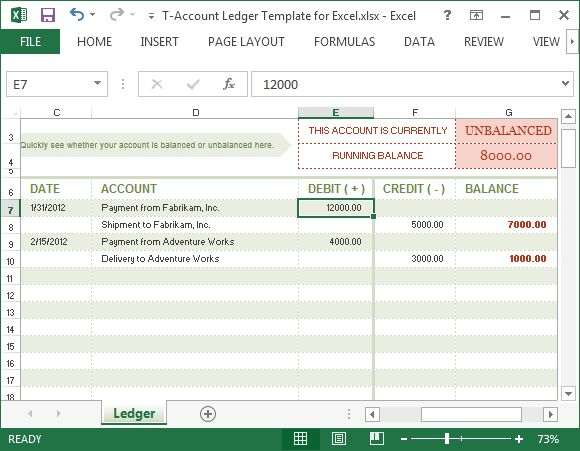 Excel Accounting Ledger Template Free
