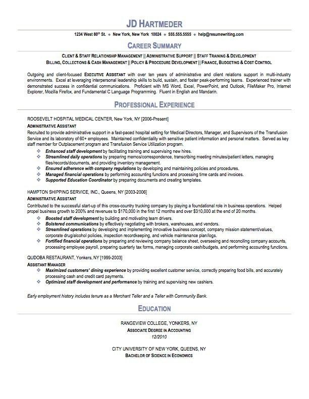 Resume Sample Summary 4 Choose Create My Resume Professional