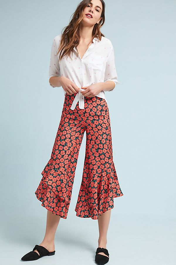 floral wide legs from Anthropologie
