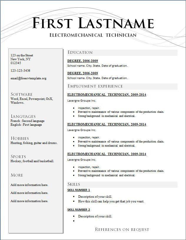 Free Resume Builder Free Download Free Basic Resume Templates - free resume template builder