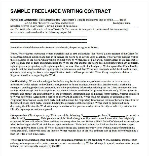 Freelance Proposal Template Sample Freelance Proposal Template 5 - sample freelance contract template